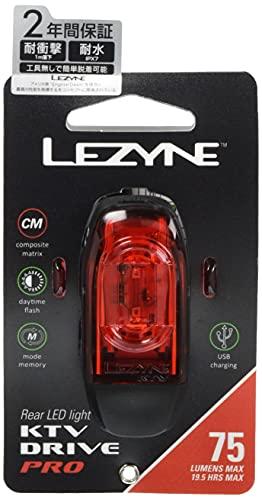 【日本正規品】 LEZYNE(レザイン)自転車 テールライト KTV PRO DRIVE REAR 防水リアライト(75ルーメン) 2年保証 