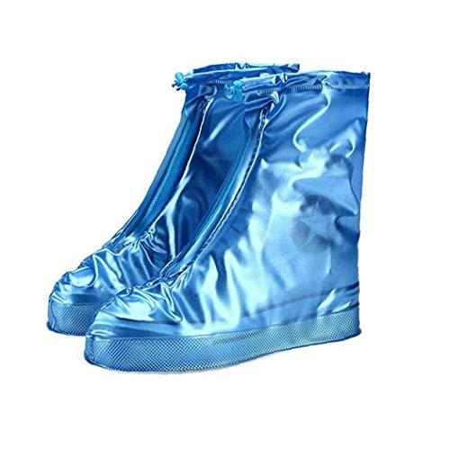 Hiinice Zapato Impermeable Lluvia Covers Reutilizable Elegante Zapato Protector usable al Aire Libre sólido Chanclo (Azul) Llevar Latido del corazón