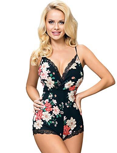 ohyeahqueen - Lencería sexy para mujer, algodón, lencería sexy, tirantes lisas, M-5XL Style2-floral 5X-Large