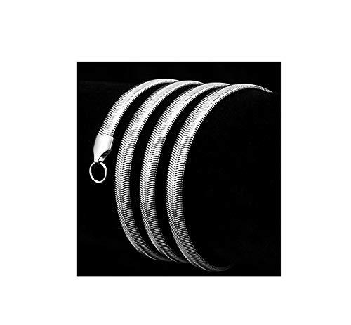 Epinki Acero Inoxidable 3MM Cadena Collar para Hombre Plata Serpiente Cadena Enlace Collar Joyería Collar Largoitud 55CM