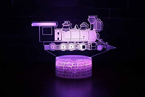 Lámpara De Noche Con Luz Nocturna En 3D, 7 Cambios De Color, Interruptor Táctil, Mesa, Decoración De Escritorio, Lámparas, Con Usb[Clase De Eficiencia Energética A+]