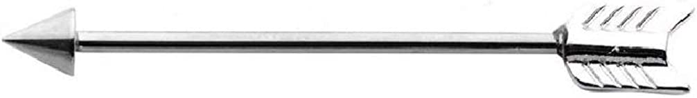 14G 316L Stainless Steel Arrow Industrial Barbell