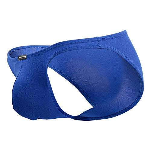 Ouber Men's Bodybuilding Posing Trunks Bikini Briefs Comfort Pouch Underwear (Blue,XL