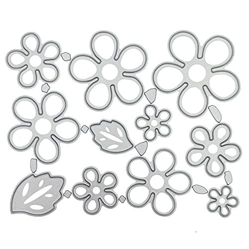 DIY Flowers Set Die Cuts for Card Making, Metal Cutting Die, Embossing Stencil Template for DIY Paper Art Craft, Scrapbooking, Photo Album Decor