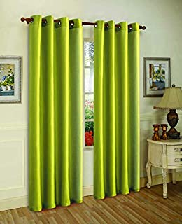 J&V TEXTILES 2 Panels Solid Grommet Faux Silk Window Curtain Drapes Treatment in 84