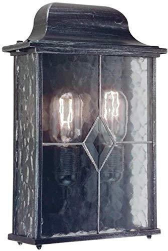 Applique Wexford demi-lanterne, noir/argent