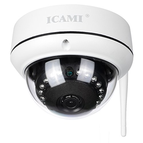 ICAMI HD Security Camera WiFi Dome IP Camera Wireless Home Surveuillance System Audio with Motion...