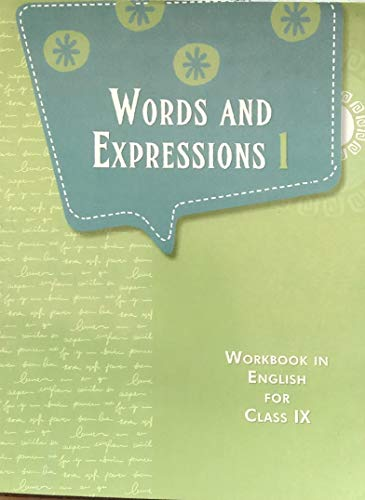 NCERT Words And Expressions 1 Workbook For Class 9 (English)