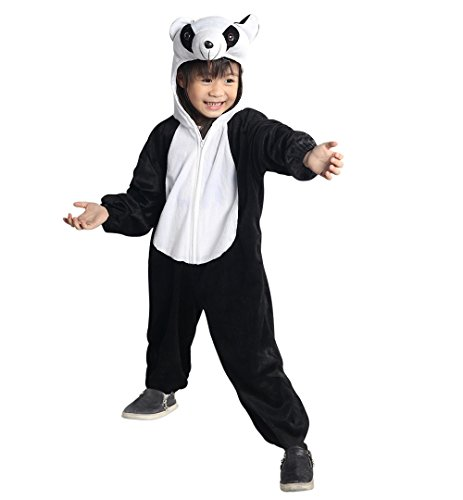 Panda-Kostüm, An75 Gr. 98-104, für Kinder, Panda-Kostüme Pandas für Fasching Karneval, Panda-Bär Klein-Kinder Karnevalskostüme, Kinder-Faschingskostüme, Geburtstags-Geschenk Weihnachts-Geschenk
