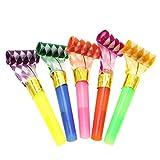 5 piezas de juguetes coloridos para niños divertidos silbatos para fiestas de cumpleaños, fiestas de Navidad, fiestas de niños, Halloween, accesorio para fiestas, Año Nuevo (color al azar)