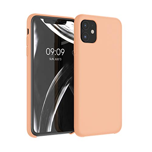 kwmobile TPU Silicone Case Compatible with Apple iPhone 11 - Case Slim Protective Phone Cover with Soft Finish - Peach