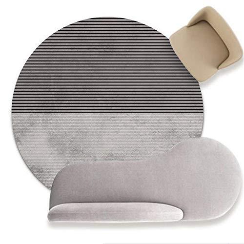 Alfombra redonda moderna y elegante Alfombra suave de líneas geométricas en blanco y negro de moda, para sala de estar, dormitorio, cocina, guardarropa, silla, alfombra, sofá, cabecera, habita