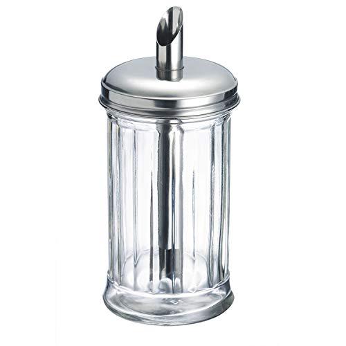 Westmark 65242260 New York Dosatore per zucchero, in vetro, dimensioni: 16 x 4,6 x 7,6 cm, colore: Argento