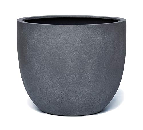 VAPLANTO® Pflanzkübel Egg Pot 60 Blei Grau Rund XL * 55 x 55 x 46 cm * 10 Jahre Garantie