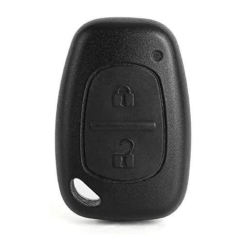LAGE Ersatzschlüssel ohne Klingen und Fernbedienung 2 Tasten für Renault Master Trafic Clio Twingo Megane Laguna Espace Kangoo Safrane Modus, Opel Vivaro Movano, Nissan Interstar