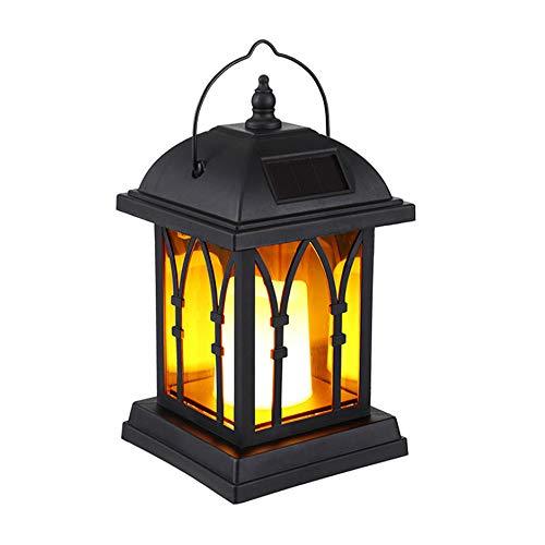 Hines Lámpara De Poste De Luz LED Energía Solar Lámpara De Pilar Al Aire Libre Personalidad Creatividad Lámpara De Columna De Vidrio Luces De Jardín Europeas Luces De Poste De Columna De Valla