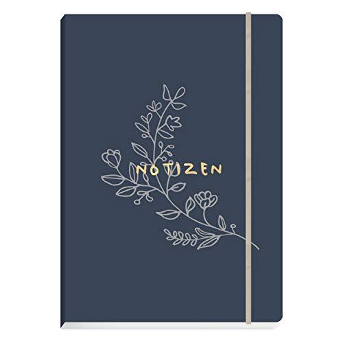 Notizbuch DIN A5, 176 hochwertige Seiten gepunktet  Notebook, Bullet Journal, Skizzenbuch mit edlem Softcover  Stilvolles Geschenk und schöne Geschenkidee