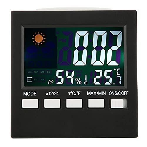 Raguso Despertador electrónico Multifuncional Despertadores de Viaje con Pantalla de Temperatura, Soonze, Brillo Ajustable