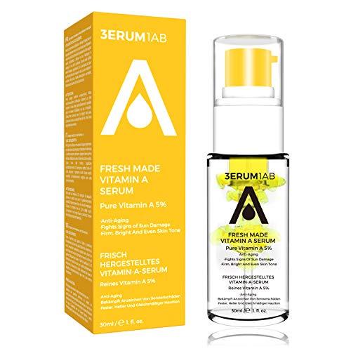 Retinol DIY Vitamin A Serum 15% | 2020 Locking Frische Design | Einzigartiges Space Capsule Design | Professionelles Anti-Aging-Serum | Fortgeschrittene aufhellende natürliche Gesichtsbehandlung