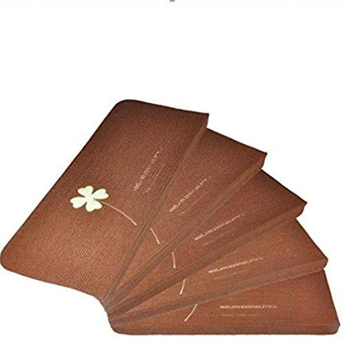 Fdit Confezione da 5 Luminoso tappetini Billigerluxus Glue-Free Autoadesivo in PVC Antiscivolo Pavimento Staircase tappeti tappetini Protector Pads