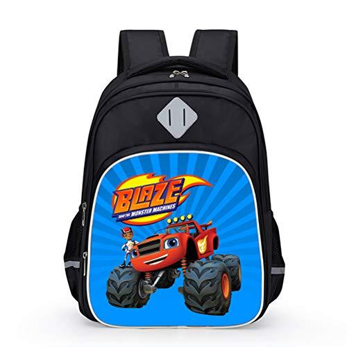 Blaze and The Monster Machines Stili popolari Zaino Sport Daypack Bambini Borsa da viaggio Casual Borsa da viaggio Backpack Boys High Capacità Zaino Girls Borsa da scuola compatta e leggera unisex