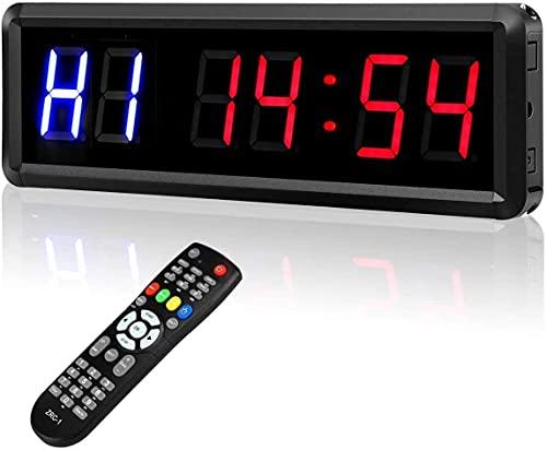 Kacsoo - Cronómetro de actividad LED multifunción con control remoto, cuenta regresiva/reloj...