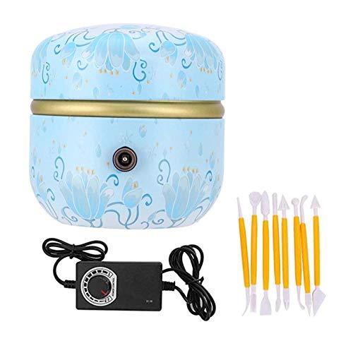 ZSCKJ Mini-töpferscheibe, Elektrische Töpfermaschine, Töpferscheibenformmaschine Mit Tablett Und Tonwerkzeugen, Geeignet Für Erwachsene Anfänger Und Kinder DIY Keramikkunst (blau)