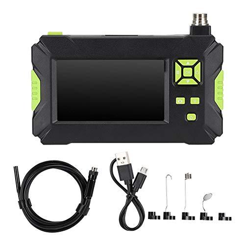 Cámara de inspección de endoscopio de 8 mm, cámara de serpiente recargable por USB con pantalla LCD de 4,3 pulgadas, endoscopio industrial resistente al agua con ángulo de visión de 70 ° con LEDS(10m)