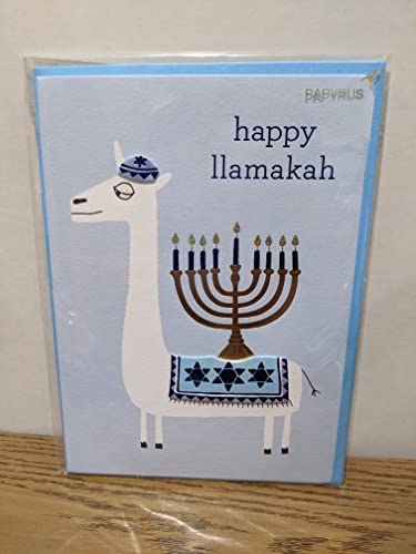 Papyrus Funny Hanukkah Card (Fun and Festive Llama)