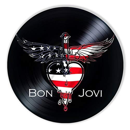 Bon Jovi Vinyl Decor, Wall Decor Painted Bon Jovi, Original Gifts for Music Lovers, The Best Gift for Souvenir, Unique Wall Art Home Decor