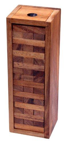 Wackel Turm Gr. L - Condo - Holzturm - Geschicklichkeitsspiel - Gesellschaftsspiel - Familienspiel aus Holz