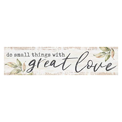 P. Graham Dunn Small Things with Great Love Whitewash 6 x 1.5 Mini Pine Wood Tabletop Sign Plaque