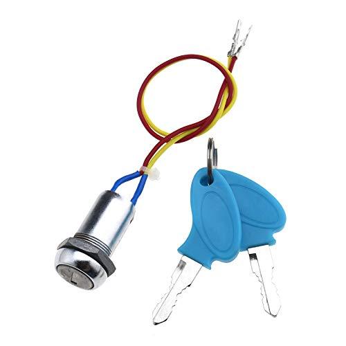 Llave universal de encendido de 2 cables, interruptor de encendido con llave, resistente al agua, para ciclomotores, quads, karts, motos