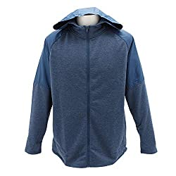 It's French Terry you can actually work out in the same comfort and warmth, but light and fast Woven overlays for added durability Material wicks sweat and dries fast Open hand pockets Raglan sleeves Shaped hem