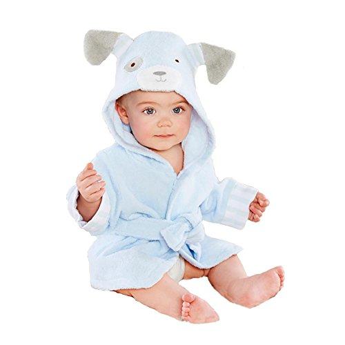 Minuya - Albornoz unisex con capucha, en algodón, para bebés y niños...