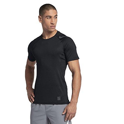 NIKE Hypercool GFX Camiseta, Hombre, Negro (Black/Dark Grey), XXL
