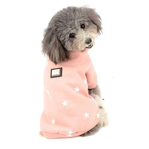 Ranphy Pequeño Perro Suéter Abrigo Polar Jersey Cachorro Chándal Invierno Chihuahua Ropa Chica Niño Chaqueta Cómodo Algodón Ropa Rosa S