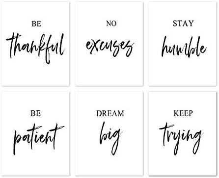 HOMANGA Motivational Wall Art Inspirational Wall Art Inspirational Quote Office Wall Decor Wall product image