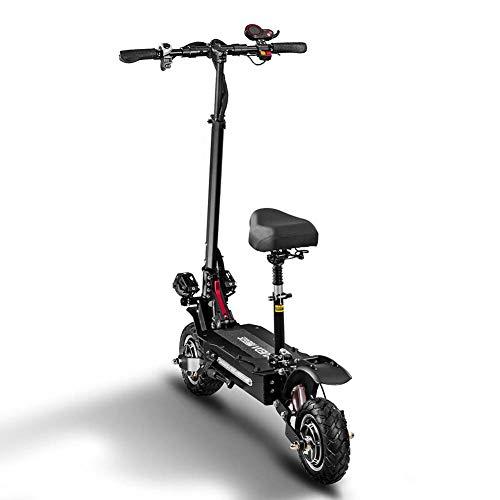 Zzzy Patinete/Scooter eléctrico Dos Ruedas, con sillín, Plegable, luz LED Frontal, Panel...