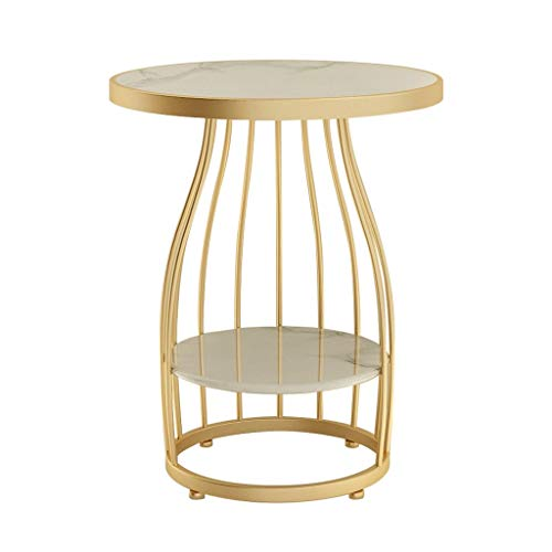 liushop Tavolini da caffè per Soggiorno Tavolino da Salotto in Marmo Creativo Nordico Tavolo da Salotto Divano Comodino Moderno Balcone Minimalista Tavolino in Ferro battuto Tavolino da Salotto