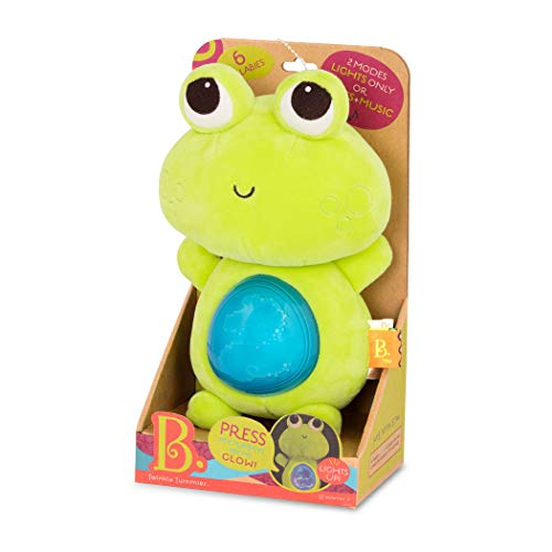 B. Toys by Battat BX1651Z B. Twinkle Tummies-Frog with Light and Sound, Green