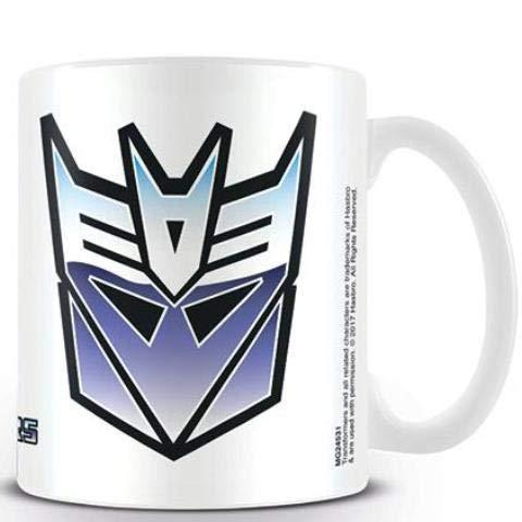 Transformers Decepticon símbolo Taza de cerámica, Multicolor