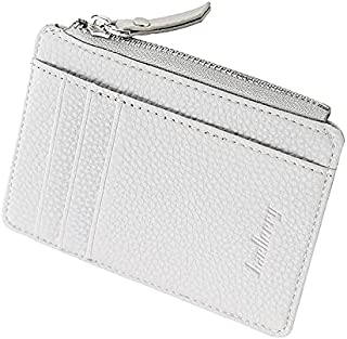 Leather Pocket Size Coin Purse Wallet Pouch, RFID Blocking Bifold Multi Card Case Wallet