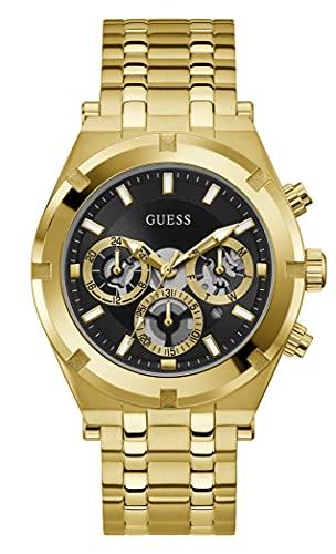 Reloj GUESS GW0260G2 ARMIS Dorado Esfera Negra