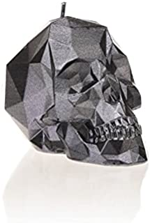 Candellana Candles Candellana- Small Skull Candle, Steel