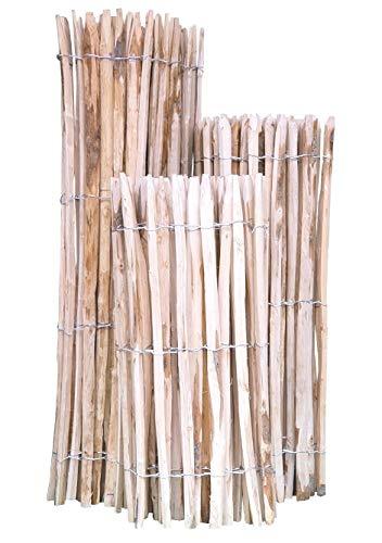 Staketenzaun Kastanie 150 x 500 cm (Lattenabstand 4-5 cm) - Kastanienzaun Natur - Staketen Roll Zaun aus Edelkastanie