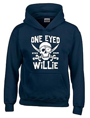 Goonies One Eyed Willie Hoodie for Men, Navy Blue or Black