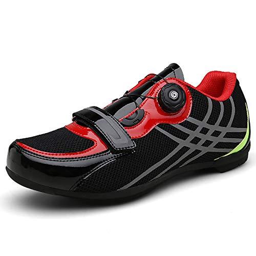 QSMGRBGZ Cycling Shoes,Lockless Baotou Breathable Non-Locking Hard-Soled Cycling Shoes,Road Mountain Bike Shoes(37-45EU),Black,44 EU