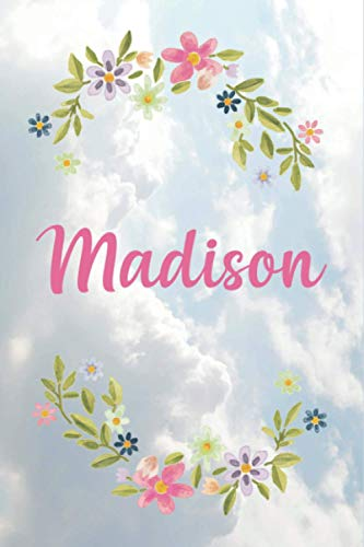 Madison Notebook: Personalized With Name Journal for Women (Personalized Books for Her): 120 pages (6