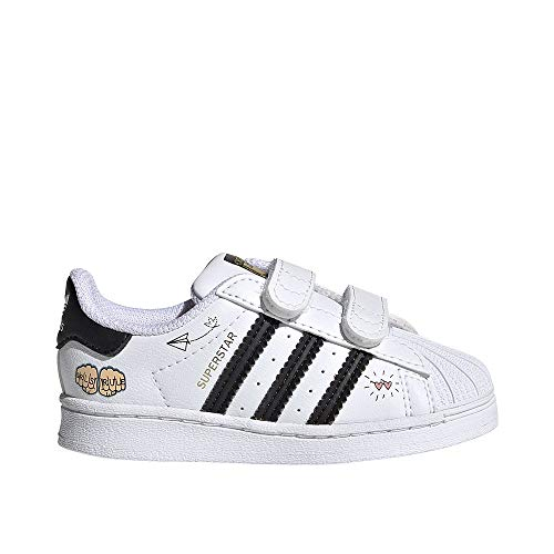 adidas Superstar CF I, Zapatillas Deportivas, FTWR White Core Black Gold Met, 21 EU